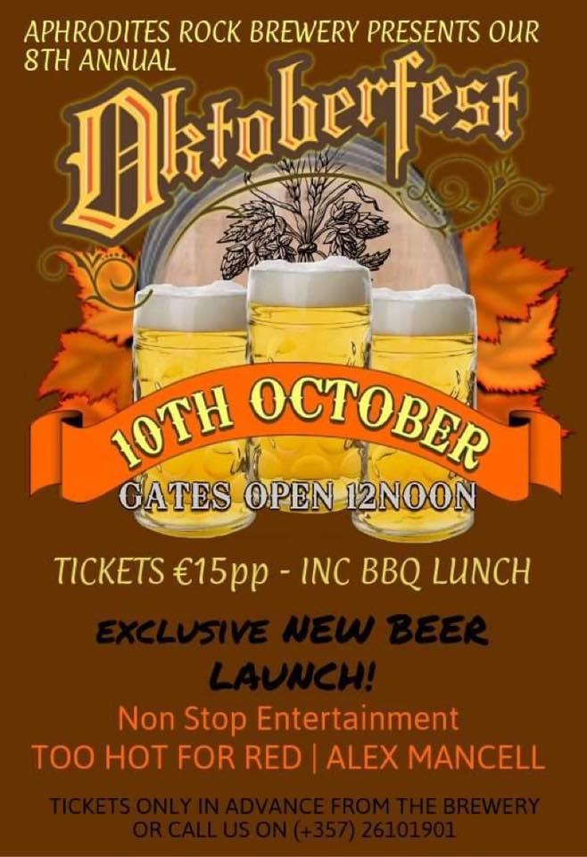 Oktoberfest on Saturday 10th October